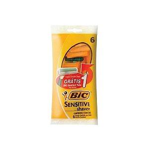 Aparelho de Barbear Bic Sensitive C/5 Grátis 1 Comfort Twi