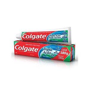 Creme Dental Colgate Tripla Ação Leve 180g Pague 140g
