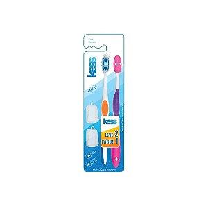 Escova Dental Kess Combo Macia 2092 Leve 2 Pague 1