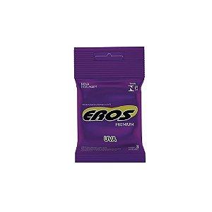 Preservativo Eros Uva C/3