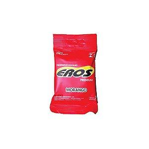 Preservativo Eros Morango C/3