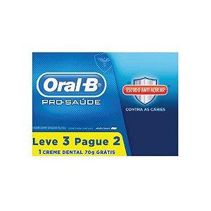 Creme Dental Oral-B Leve 3 pague 2 Proteção Açúcar 70g