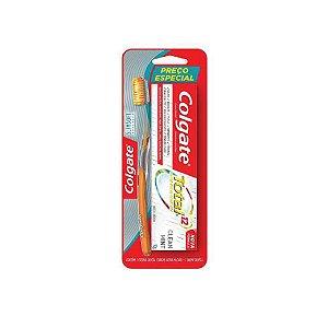 Escova Dental Colgate Slim Soft Advanced + Creme Dental Colgate Total 12 90g