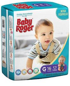 Fralda Descartável Baby Roger Jumbinho G C/16