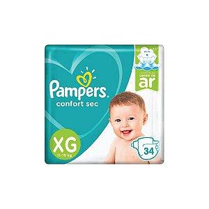 Fralda Descartável Pampers Confort Sec XG C/34