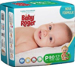 Fralda Descartável Baby Roger Hiper P C/80