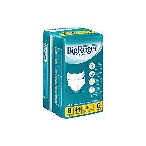 Fralda Descartável Big Roger Plus G C/8