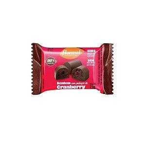 Bombom Recheado Flormel Zero Açúcar Cranberry 15g