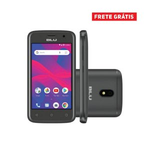 Smartphone Blu C4 C050L Dual SIM 8GB Tela de 4'' 5MP/5MP - Preto