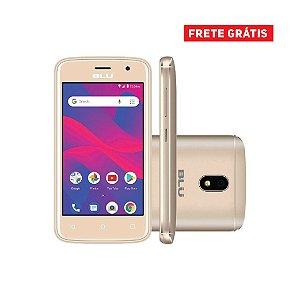 Smartphone Blu C4 C050L Dual SIM 8GB Tela de 4'' 5MP/5MP Dourado
