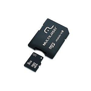 Adaptador 2 em 1 Micro SD Multilaser + Cartão de Memória 8GB - MC004