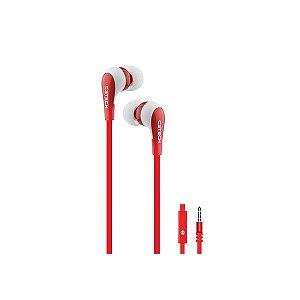 Fone de Ouvido Intra-Auricular C3Tech Spirit EP-06WRD - Vermelho