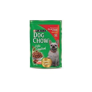 Ração Dog Chow Mix de Frango e Carne ao Molho 100g