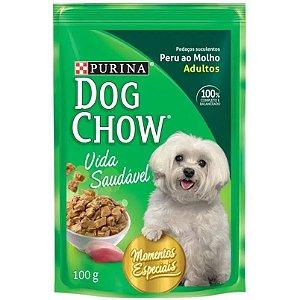 Ração Purina Sachê Dog Chow Peru ao Molho 100g