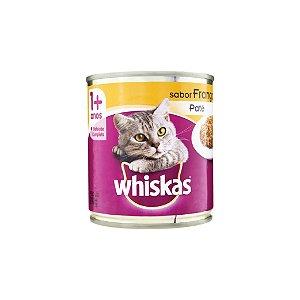 Ração Whiskas 1+ Anos Frango ao Molho Lata 290g
