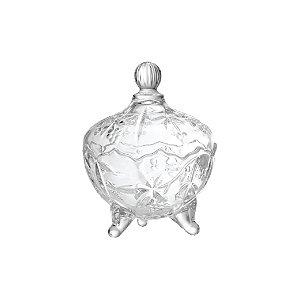 Bomboniere de Vidro Fruit Lyor Transparente 18,5cm 6550