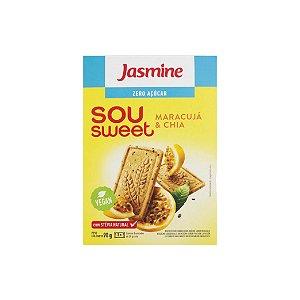 Biscoito Jasmine Sou Sweet Maracujá e Chia Zero Açúcar 90g