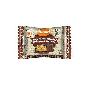 Paçoca Flormel Castanhas com Cobertura de Chocolate 22g