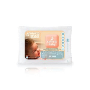 Travesseito Antimicrobiano Santista Baby 30x40cm 100% Algodão