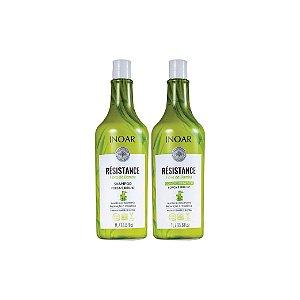 Kit Shampoo e Condicionador Inoar Résistance Fribra de Bambu 1L