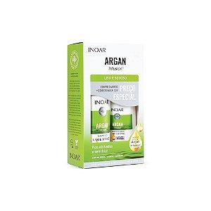 Kit Shampoo Inoar Argan Infusion Liso e Sedoso 500ml e Condicionador 250ml