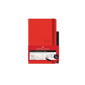 Caderneta Faber Castell Cdneta/Vm Vermelho 84Fls