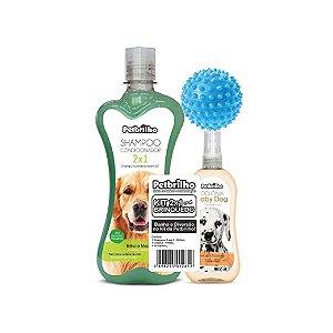 Kit Shampoo 2X1 Petbrilho C/ Brinquedo