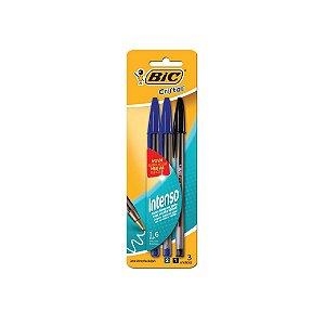 Caneta Bic Cristal 1.6 Azul/Azul/Preto