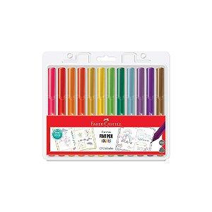 Caneta Faber Castell 0.4 Fine Pen Colors C/12