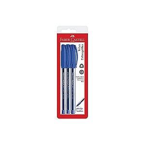 Caneta Esteriográfica Faber Castell Trilux Azul C/3 Unidades