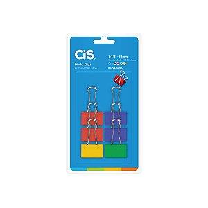 Clips Cis C/ Prendedor de Papel Colorido 32mm C/ 6 Unid.