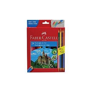 Lápis de Cor Faber Castell C/24 Cores + 4 Lápis Bicolor