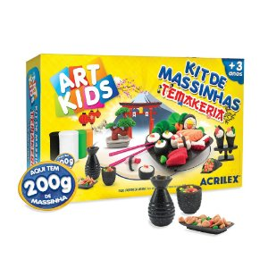 Kit Massinha Acrilex Temakeria 200g de Massinha +3 Anos