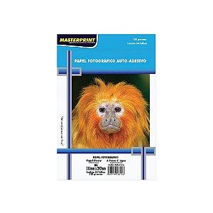 Papel Fotográfico Masterprint Inkjet A4 Glossy Adesivo 130g C/50 Folhas