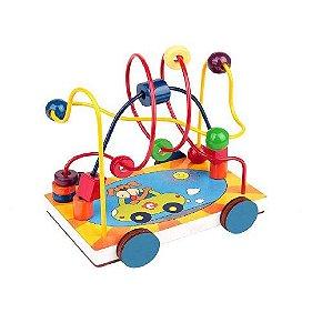 Brinquedo Pedagógico Carlu Carrinho Aramado +2 Anos