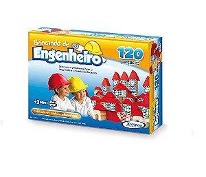 Brincando de Engenheiro Xalingo C/120 Peças +3 Anos