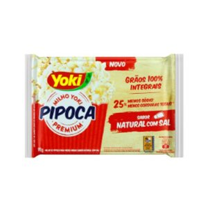 Pipoca para Microondas Yoki Natural com sal 90g