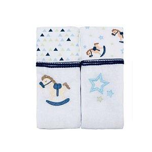 Toalha Fralda Baby Joy Trends 70 x 1,17cm C/2 Unidades Azul