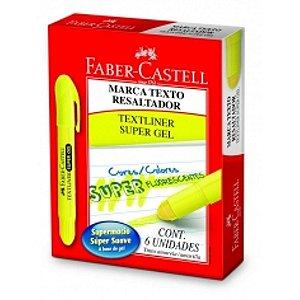Marca Texto Gel Faber Castell Amarelo C/6 unidades