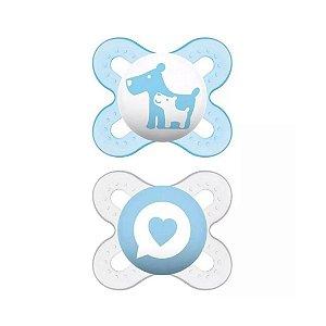 Chupeta Mam Baby Azul C/2 Unidades 0-2 Meses