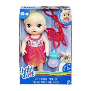 Boneca Baby Alive Face Paint Fairy Hasbro