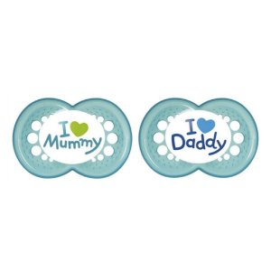 Chupeta de Silicone Mam Mom & Daddy 6+ Meses Boys C/2 Unidades