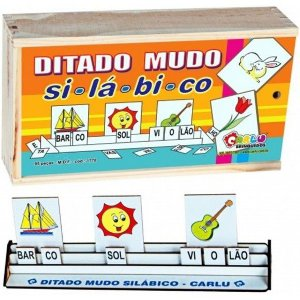 Ditado Mudo Silábico Em MDF 95 Peças Carlu