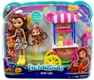 Boneca Enchantimals Carrinhos de Frutas