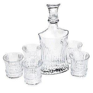 Jogo para Whisky Rojemac Garrafa Com 6 copos