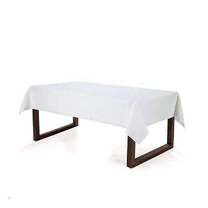 Toalha de Mesa Retangular Mendi Karsten 160x270 Branco