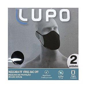 Máscara Lupo Tecnologia Amni Virus-Bac Off C/2 Preta