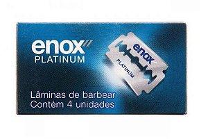 Lâmina de Barbear Enox Platinum C/4