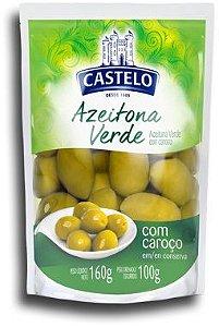 Azeitona Verde Castelo C/Caroço 100g