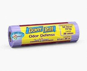 Saco Para Lixo Dover-Roll Odor Defense C/20 50L